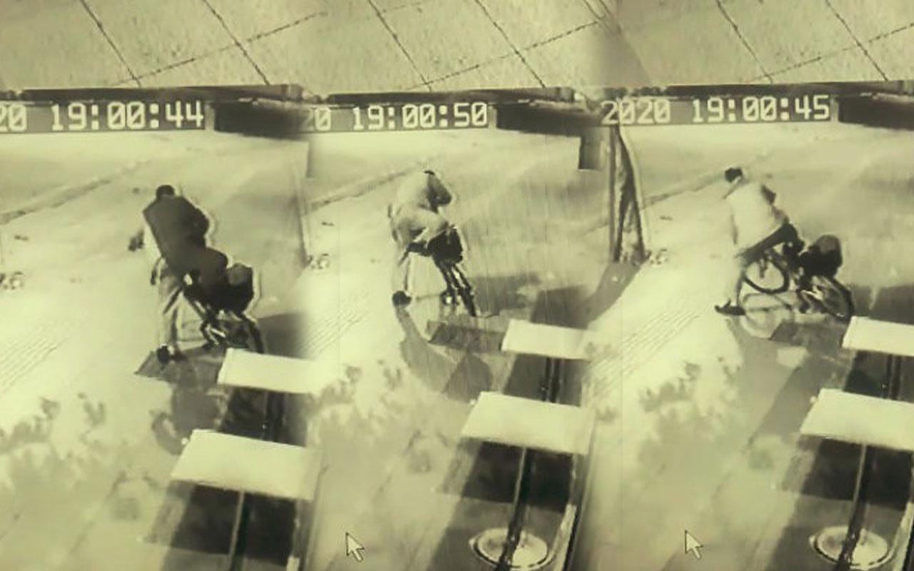 Manavgatta alkollü hırsızın çaldığı bisikletle sınavı izleyenleri gülümsetti!