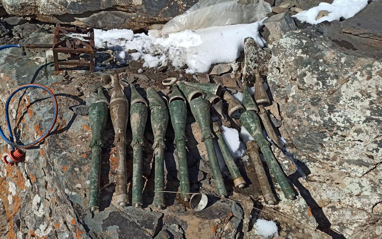 Van'da PKK'nın antitank-roketatar mühimmatı ele geçirildi
