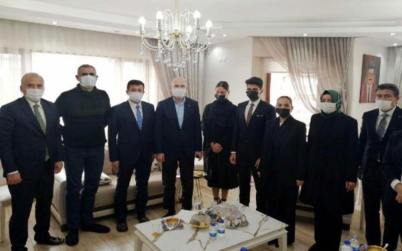 İçişleri Bakanı Süleyman Soylu'dan AK Parti Muğla Milletvekili Yelda Gökcan'a başsağlığı ziyareti