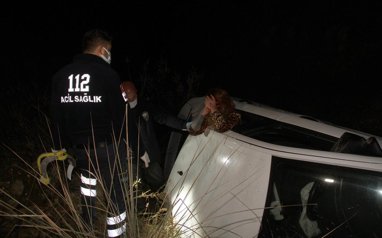 Muğla'da 45 dakika süren ikna çabası! Kazaya karışan alkollü kadın zor anlar yaşattı