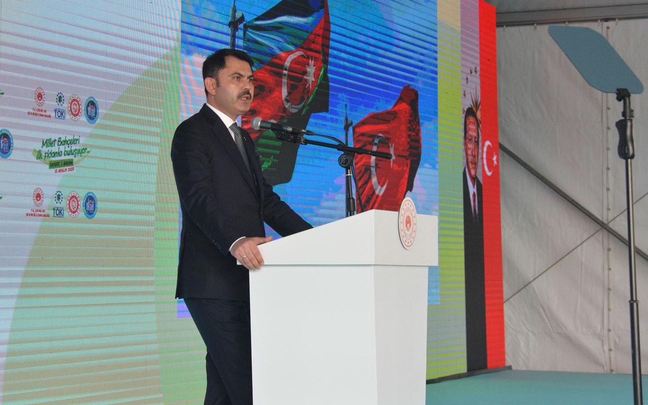 Bakan Murat Kurum: 2023'ün Türkiye'sini yeşil ağlarla örmeye gayret gösteriyoruz