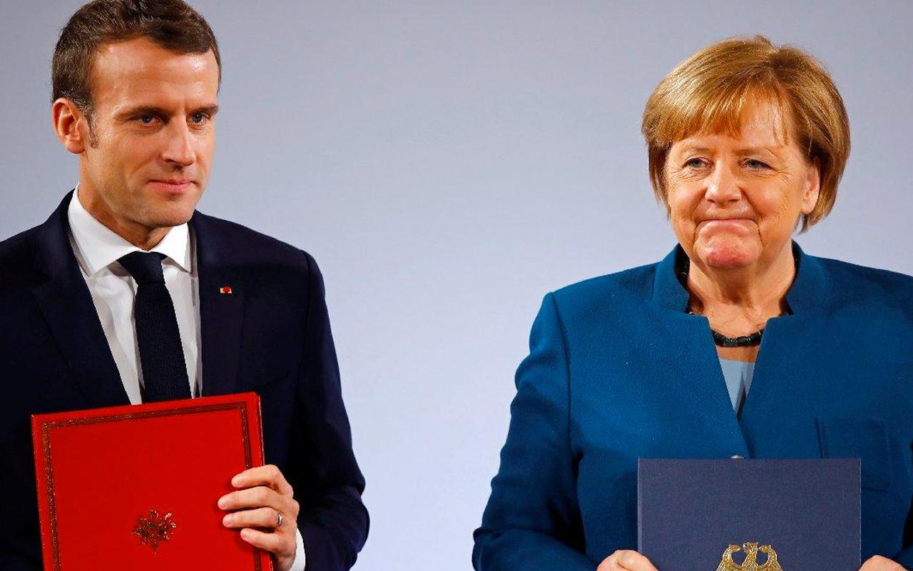 AB Liderler Zirvesi sonrası Merkel ile Macron'dan Türkiye açıklaması! Diyalog mesajı
