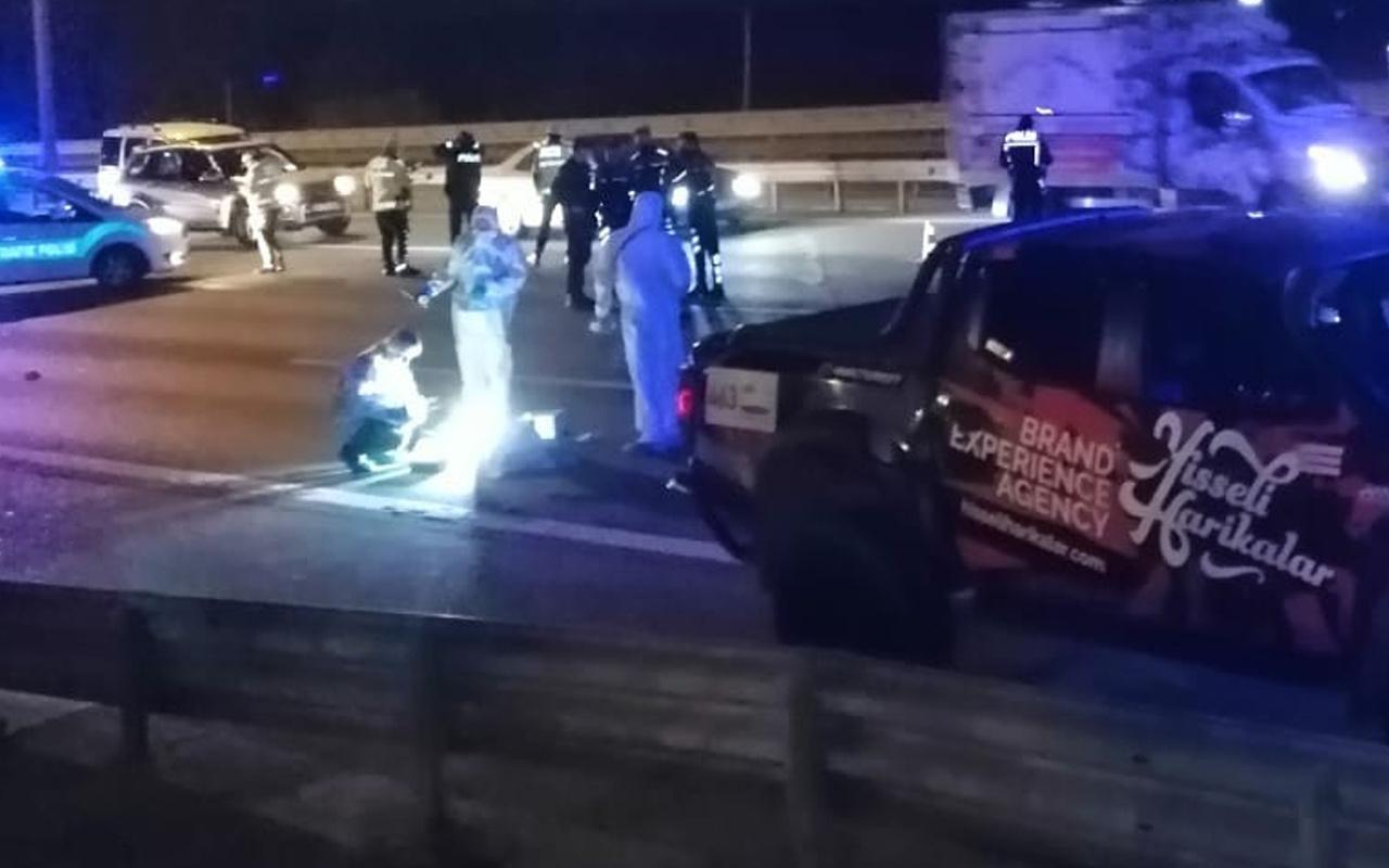 Ümraniye'de feci kaza! Otoyolda üzerinden 2 kez araç geçti