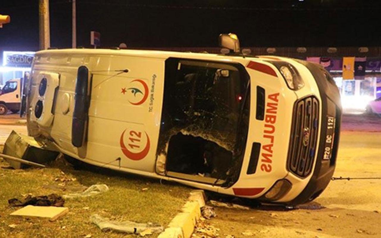 Olayın adresi Denizli! Korkunç kazada 14 kişi yaralandı