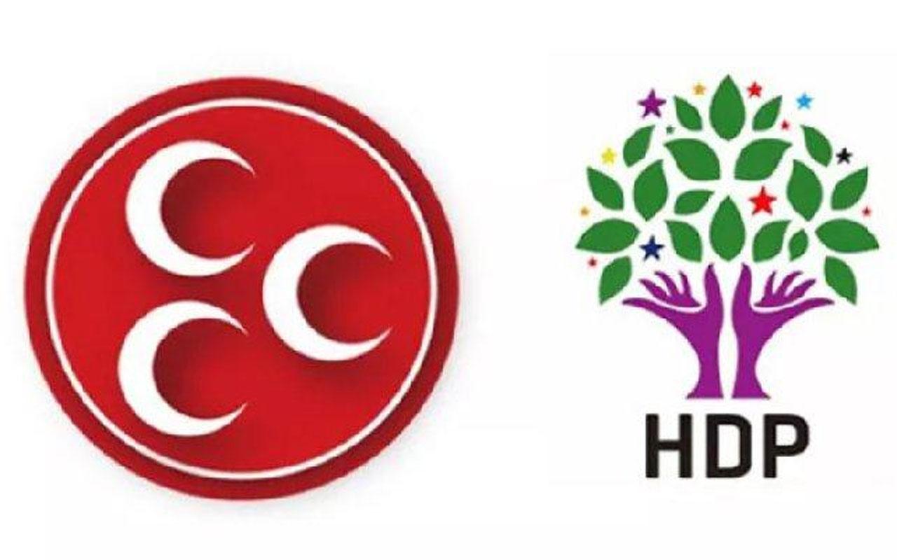 MHP ile HDP arasında sosyal medyada 'parti kapatma' tartışması