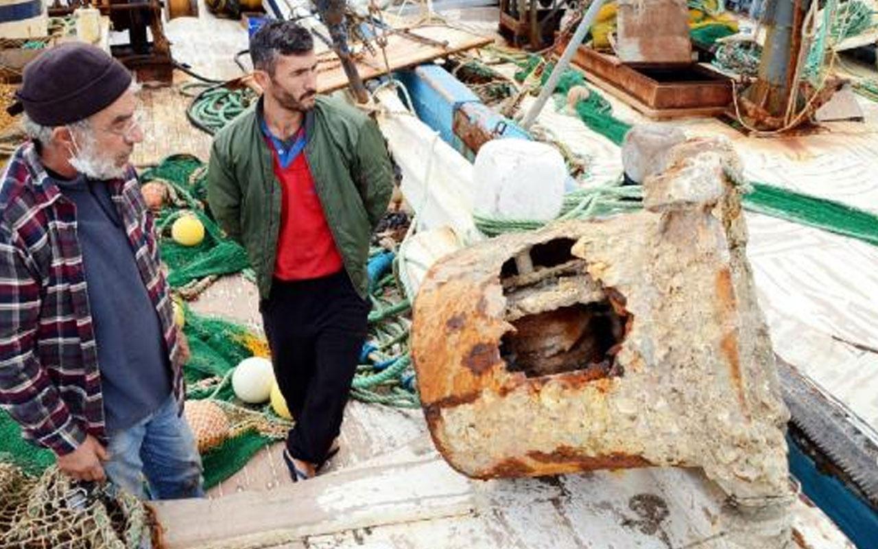 Bodrum'da balıkçı ağlarına 200 kilogram mayın parçası takıldı