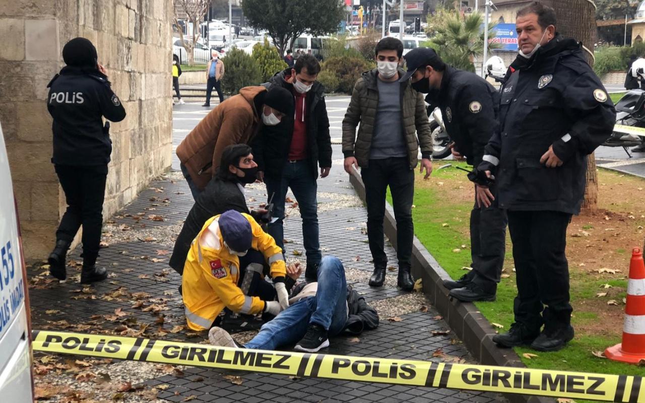 Kahramanmaraş'ta İlginç olay! sokak ortasında kendisini karnından vurdu