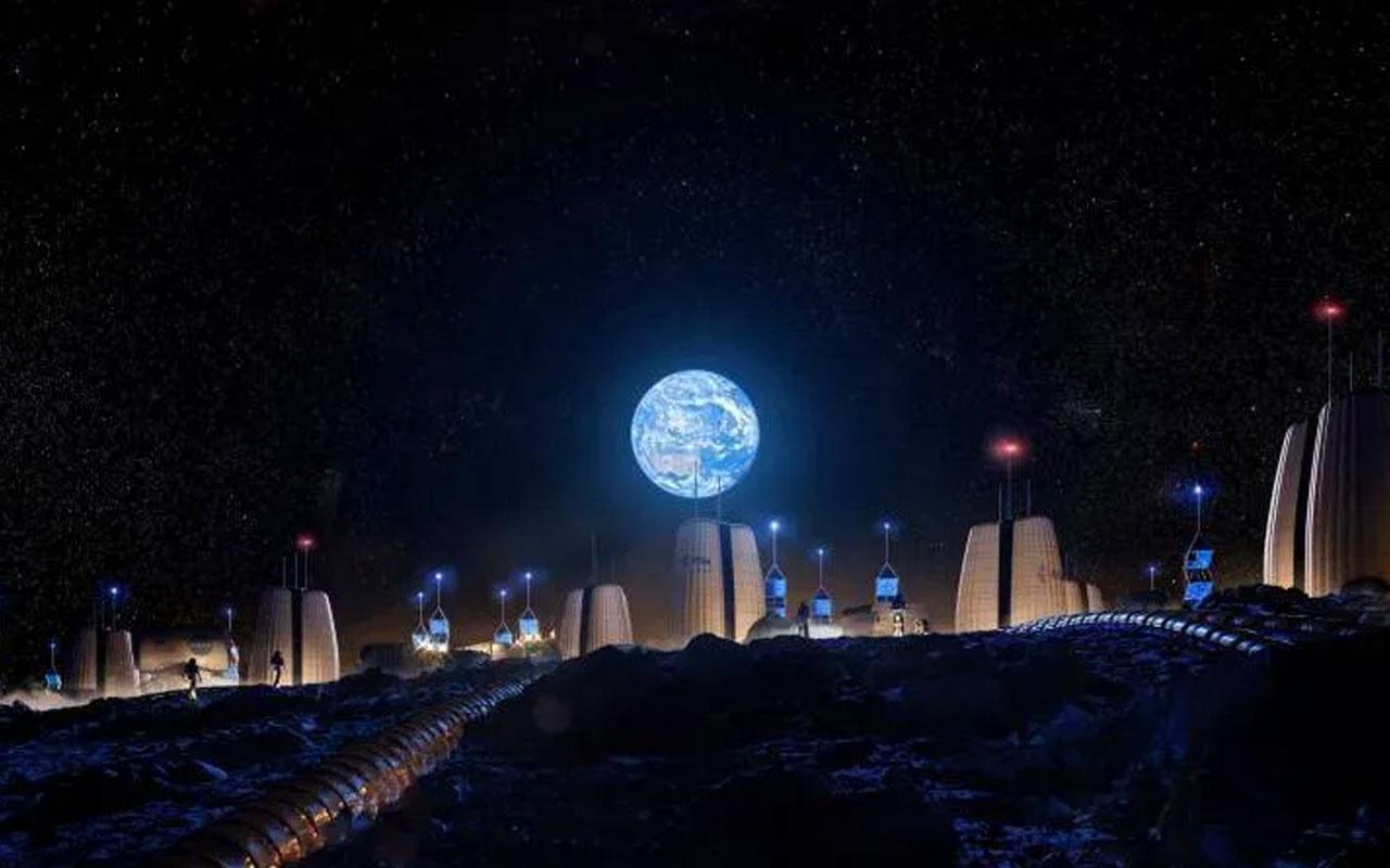 İşte Ay'a inşa edilecek evler! Avrupa Uzay Ajansı görselleri paylaştı