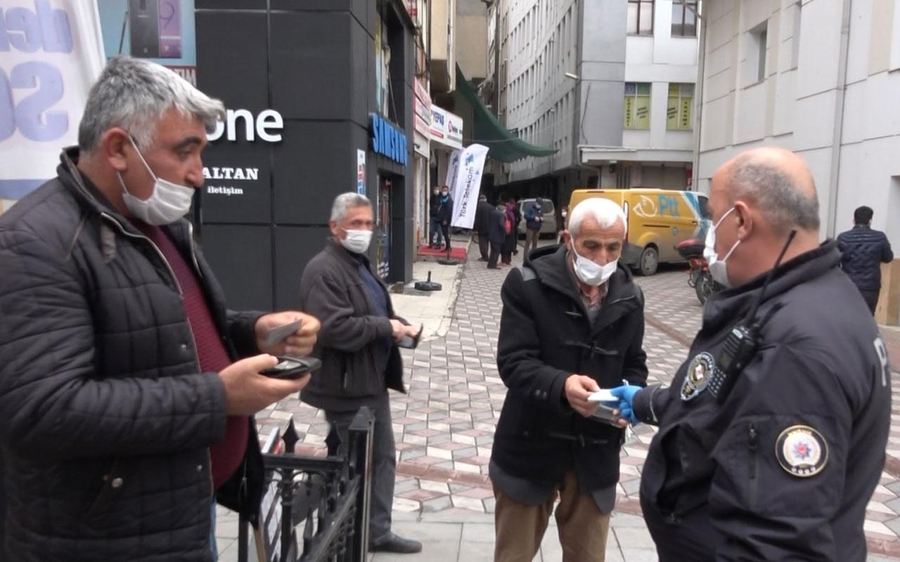 Çorum'da denetimde polise maskesiz yakalandı 'Kurban olayım, ceza yazmayın' dedi