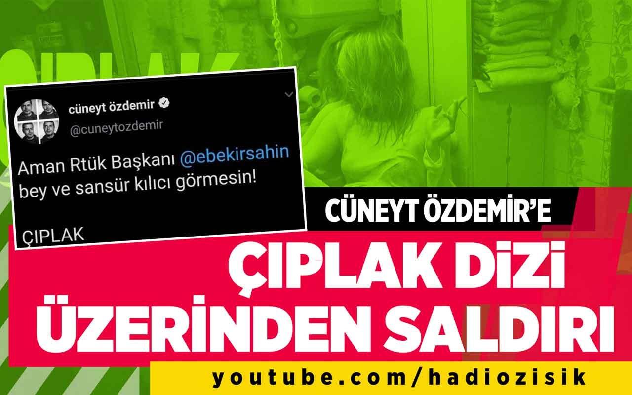 Cüneyt Özdemir'e çıplak dizi üzerinden saldırı!