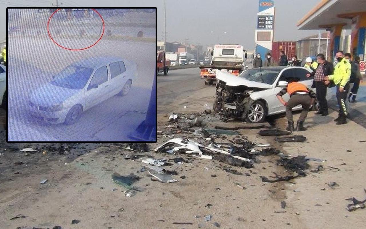 Bursa'da 3 kişinin ölümüne yol açtı! Feci kaza kamerada