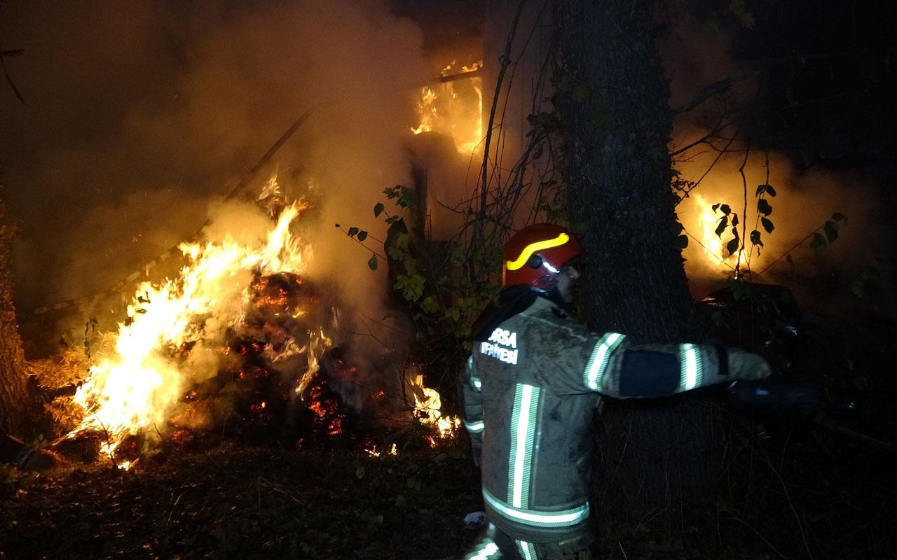 Bursa'da çiftlikte yangın: 15 büyükbaş hayvan kurtarılamadı