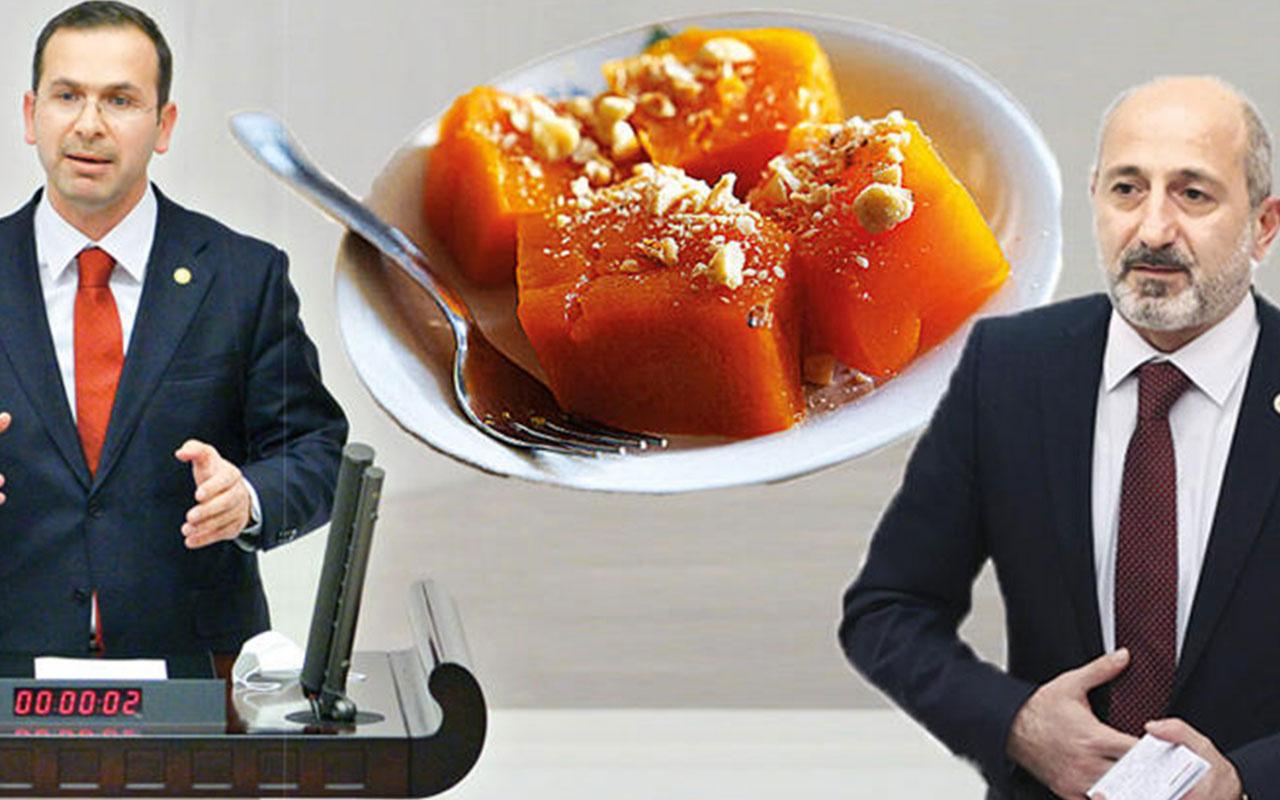 AK Parti ile CHP'nin 'kabak tatlısı' kavgası: Vallahi kuru pilav yedim