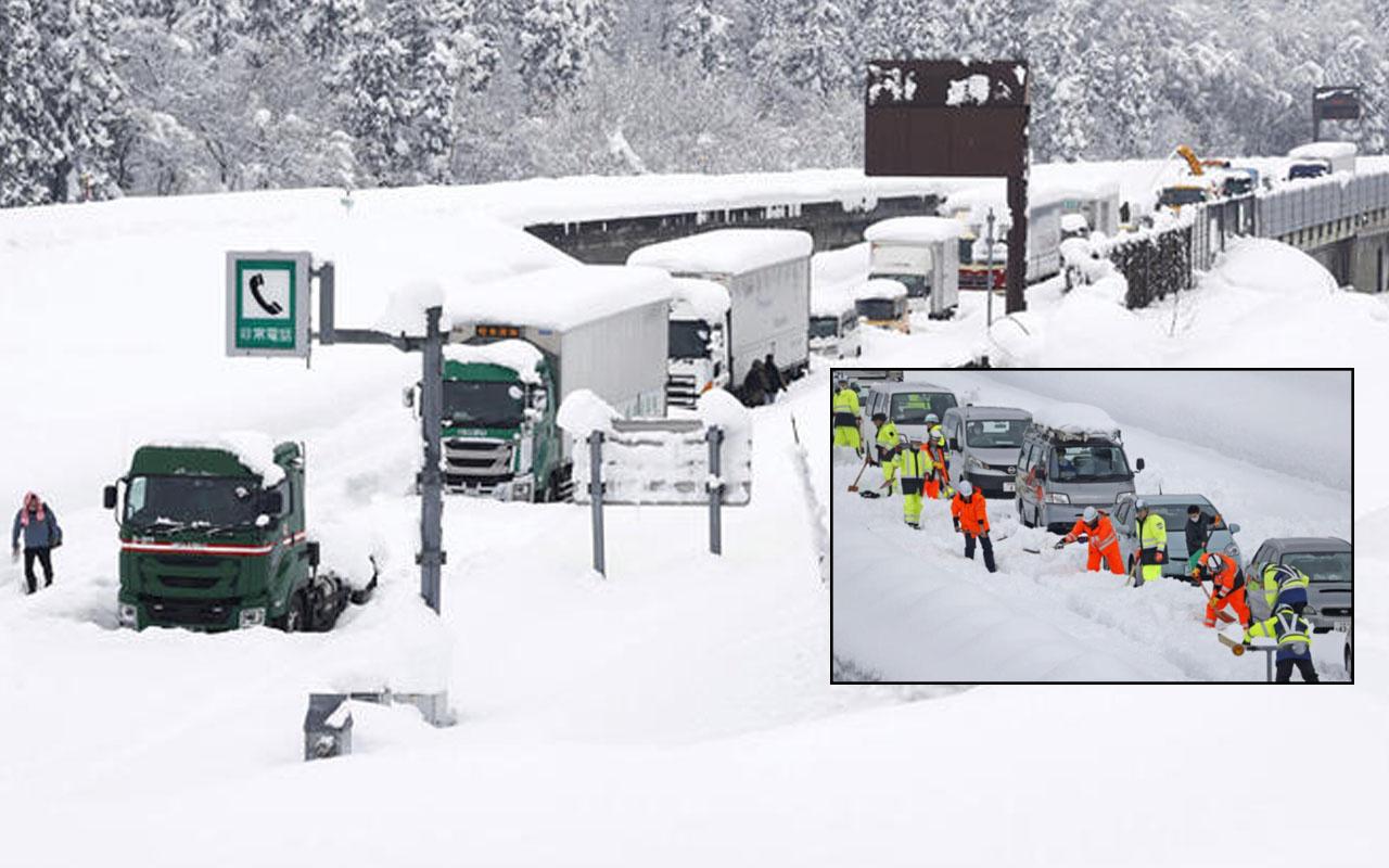 Dünyanın beklediği kar Kuzey Yarımküre'ye düştü ABD ve Japonya kar felaketini yaşıyor