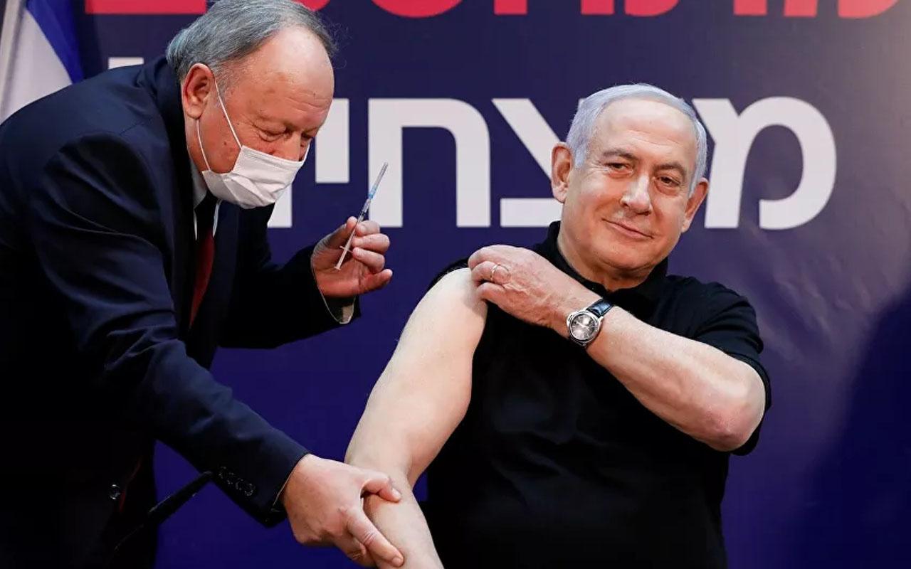 Netanyahu canlı yayında aşı oldu! İsrail'de ilk aşı başbakan ve sağlık bakanına