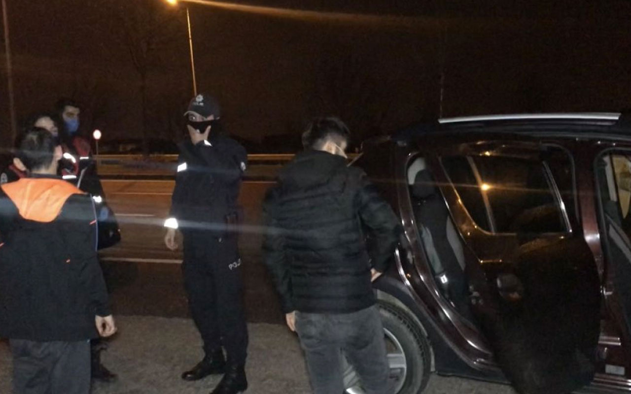 Düzce'de çalışma bahanesiyle gezen 4 kişi polise yakalandı ceza kesildi