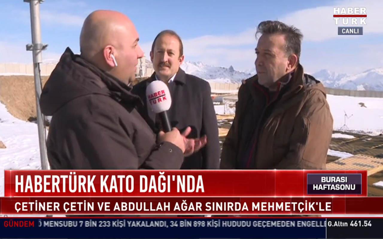 Çetiner Çetin sınır boyu üslerinde Mehmetçiği ziyaret etti