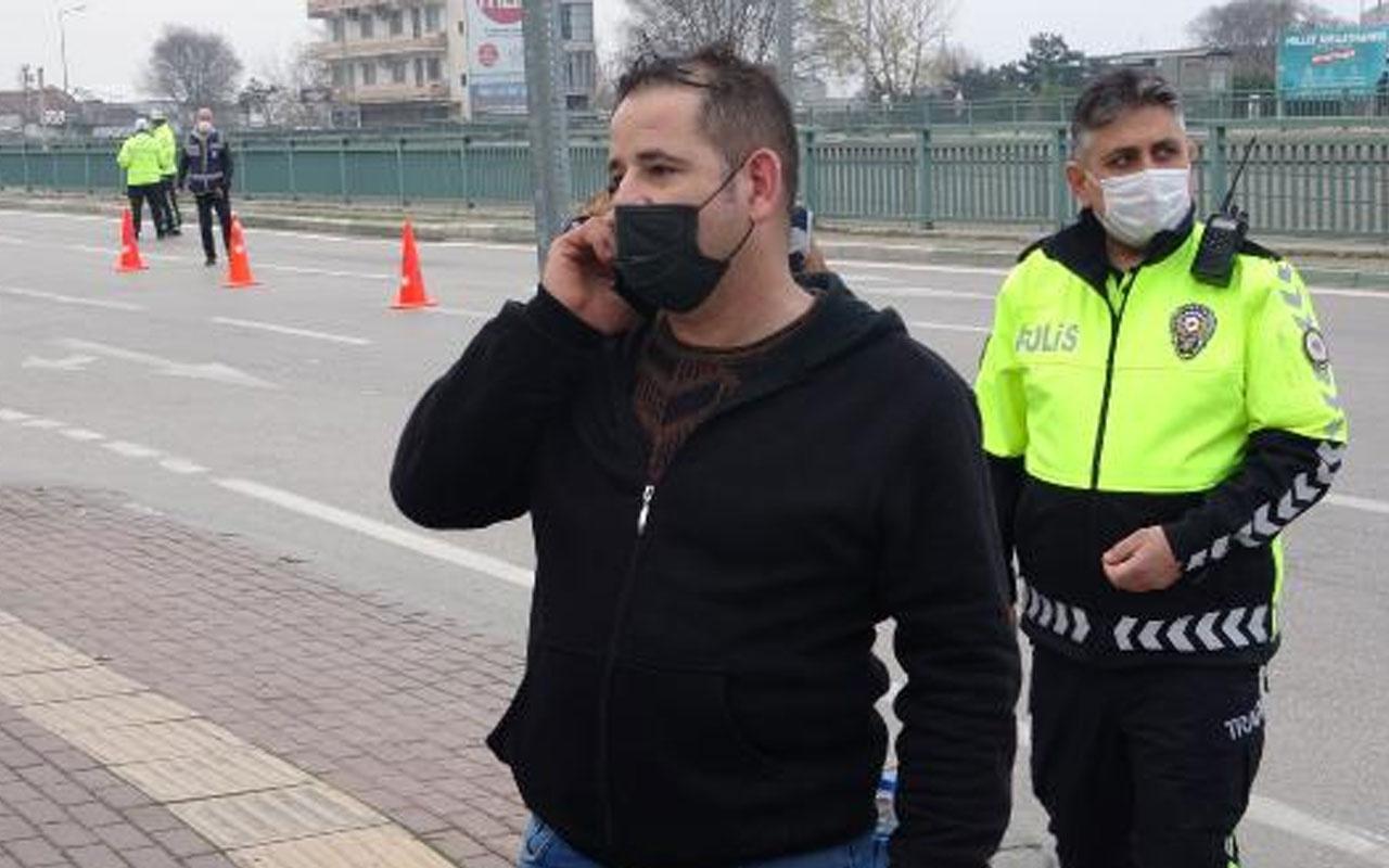 Bursa'da izin belgesi soran polise 'WhatsApp' grubunu gösterdi! Ceza yedi