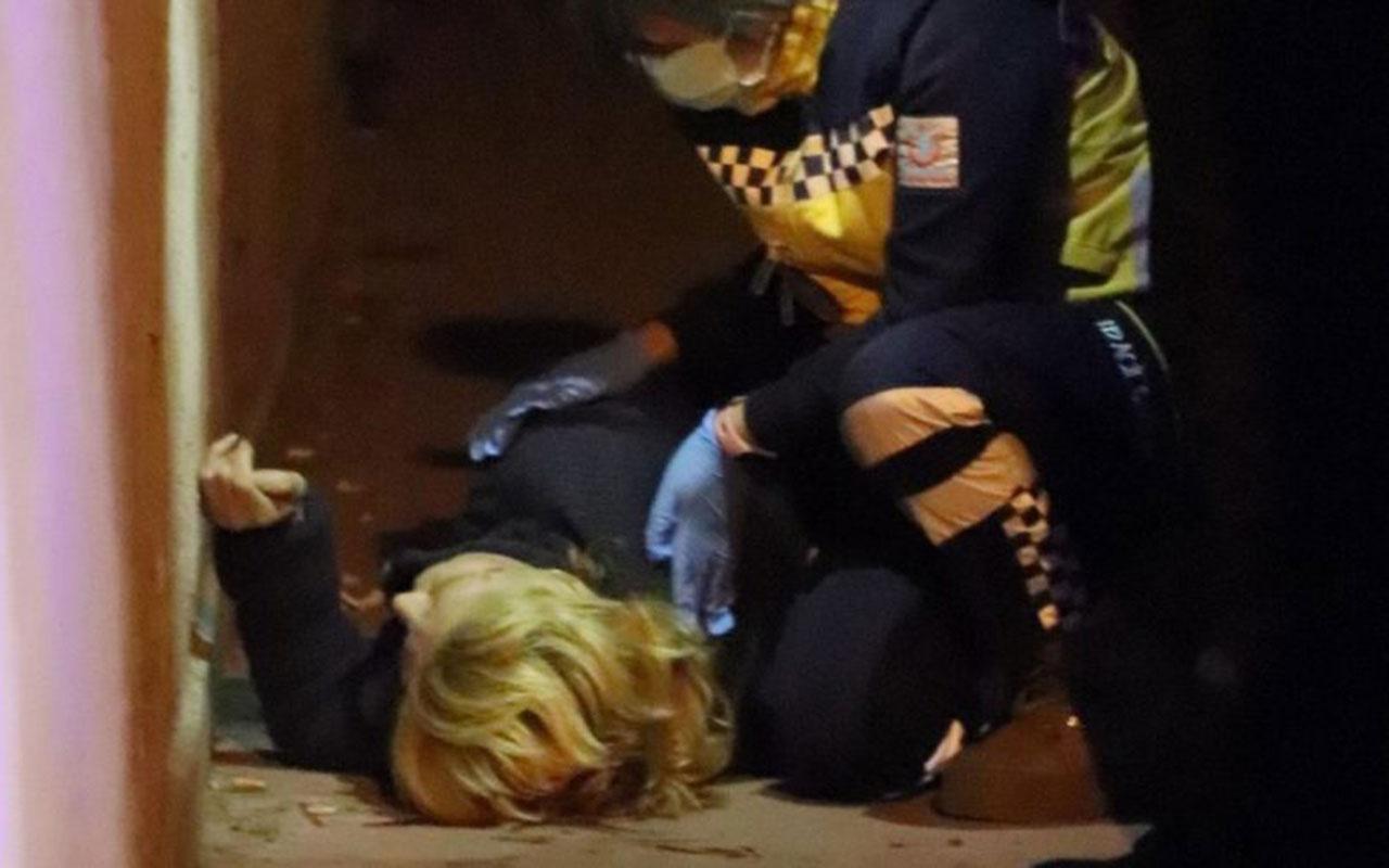 Denizli'de yaşlı kadın deprem anında 2. kattan düştü