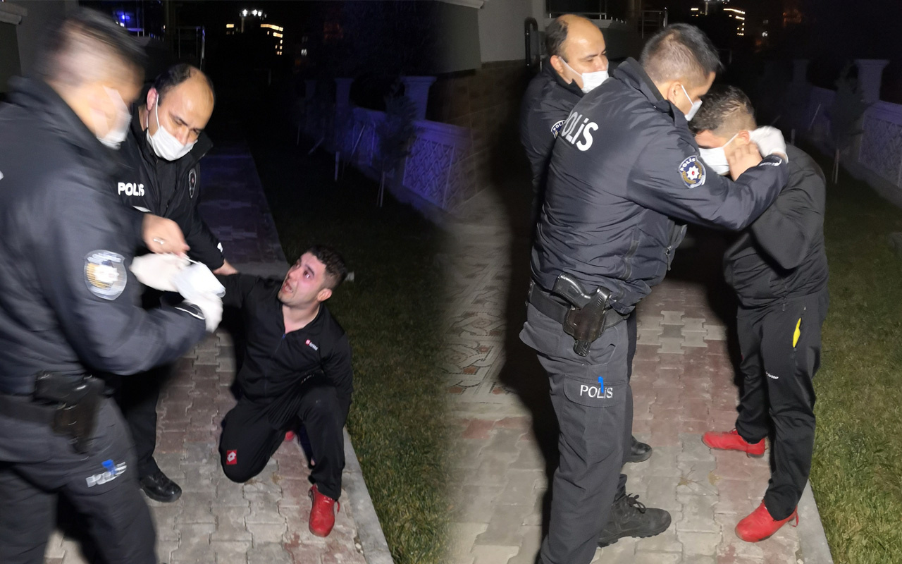 Aksaray'da polisin elini tuttu, ağlayarak yalvardı: Mezara götürün