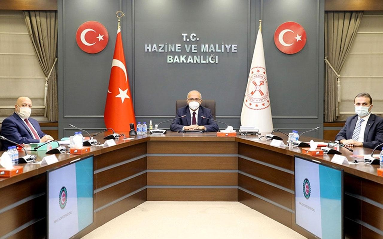 Bakan Lütfi Elvan, Hak-İş Genel Başkanı Mahmut Arslan'ı makamında kabul etti