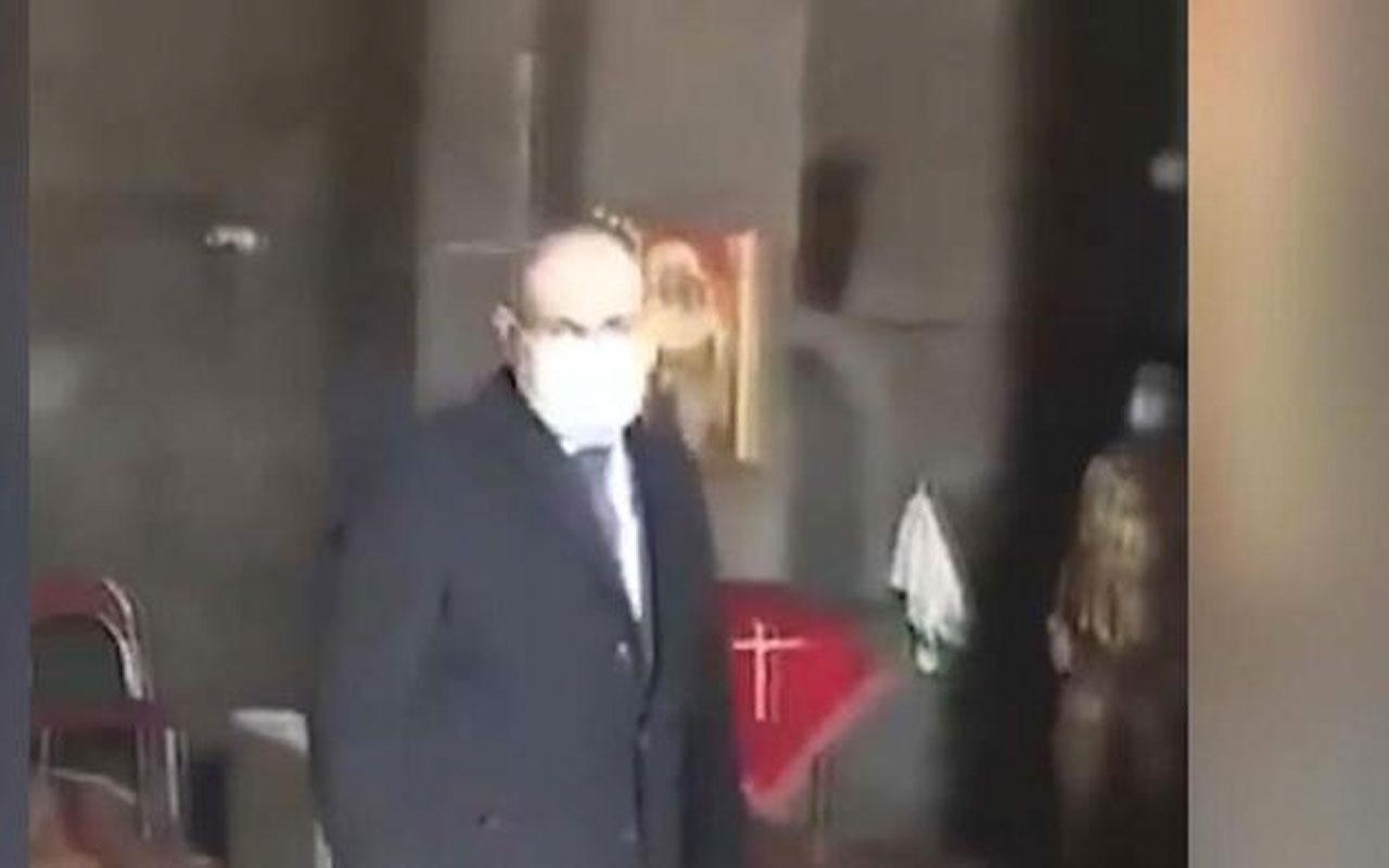 Kilise papazı Ermenistan Başbakanı Nikol Paşinyan'ı kiliseden kovdu
