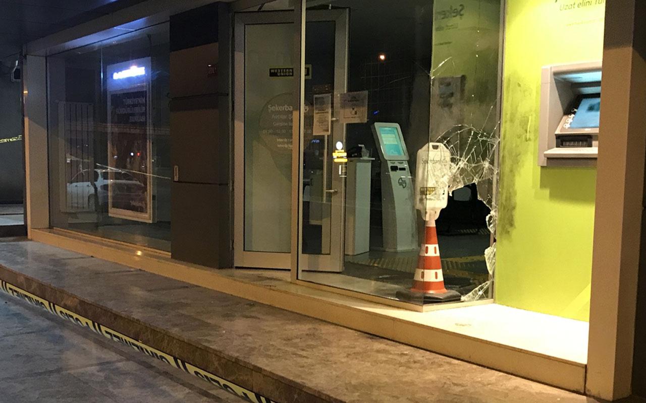 Avcılar'da banka soygunu girişiminde bulunan şüpheli alarm çalınca kaçtı