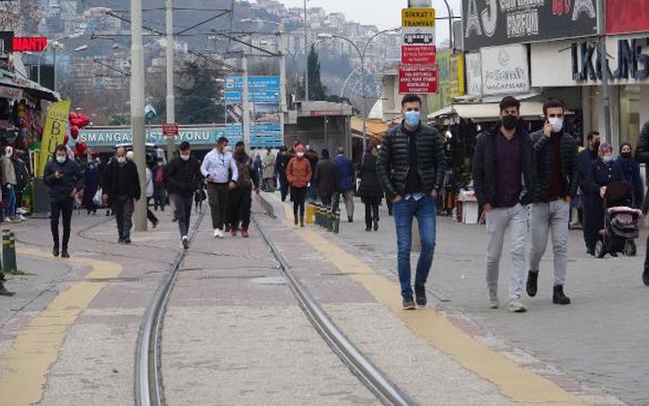 Kısıtlamalar işe yaradı! Bursa'da vaka sayısı yüzde 50 düştü