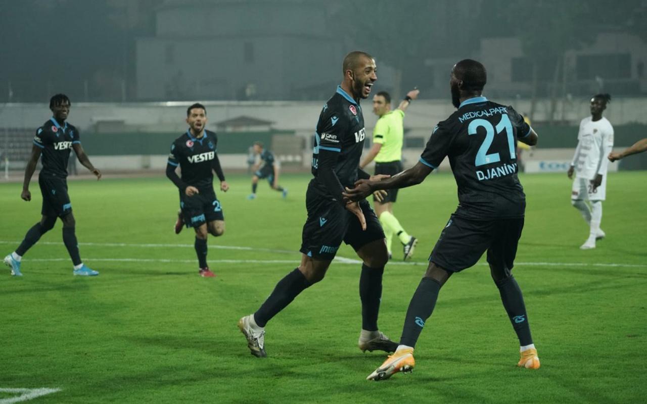 Hatayspor'a konuk olan Trabzonspor tek golle kazandı