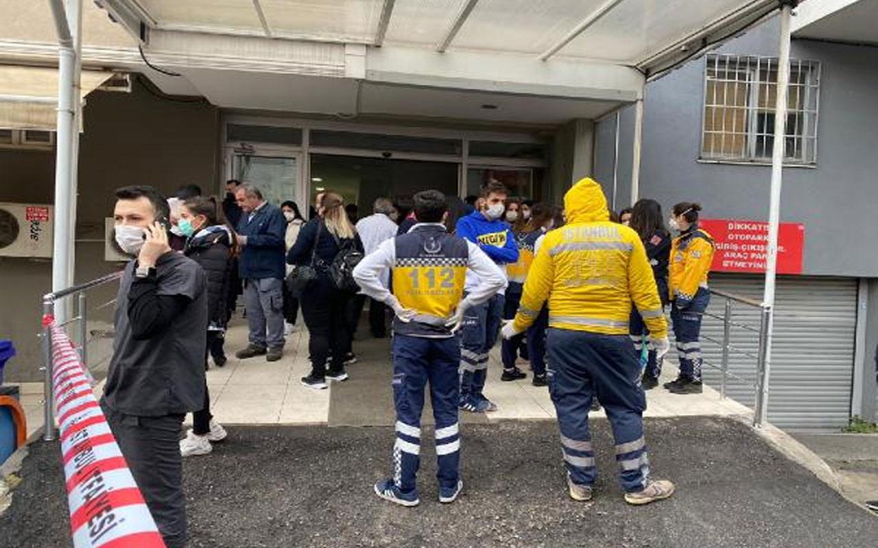 Maltepe'de özel hastanede yangın paniği! Ekipler olay yerinde