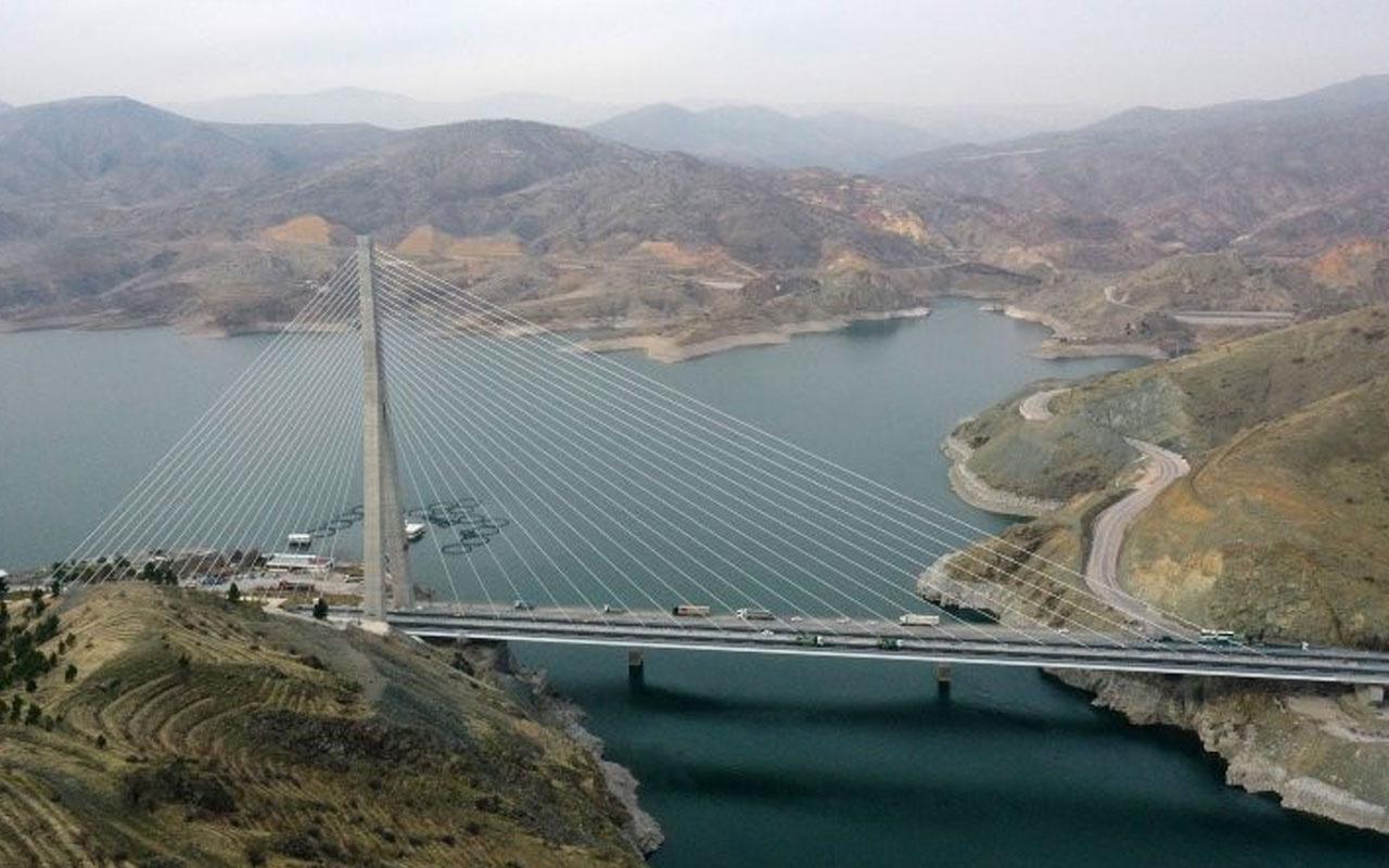 6 sene önce yapımına başlanan Kömürhan Köprüsü tamamlandı işte son hali