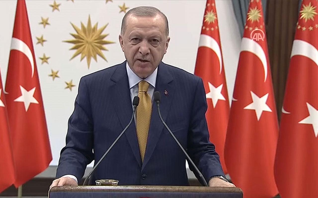 Erdoğan TOKİ tarafından Arnavutluk'ta yapılacak 522 konutun temel atma töreninde konuştu