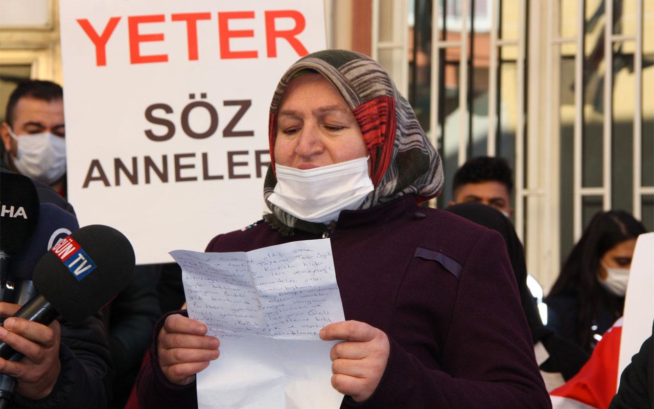HDP önündeki anne evladının ölüm haberi iddiasına tepki gösterdi