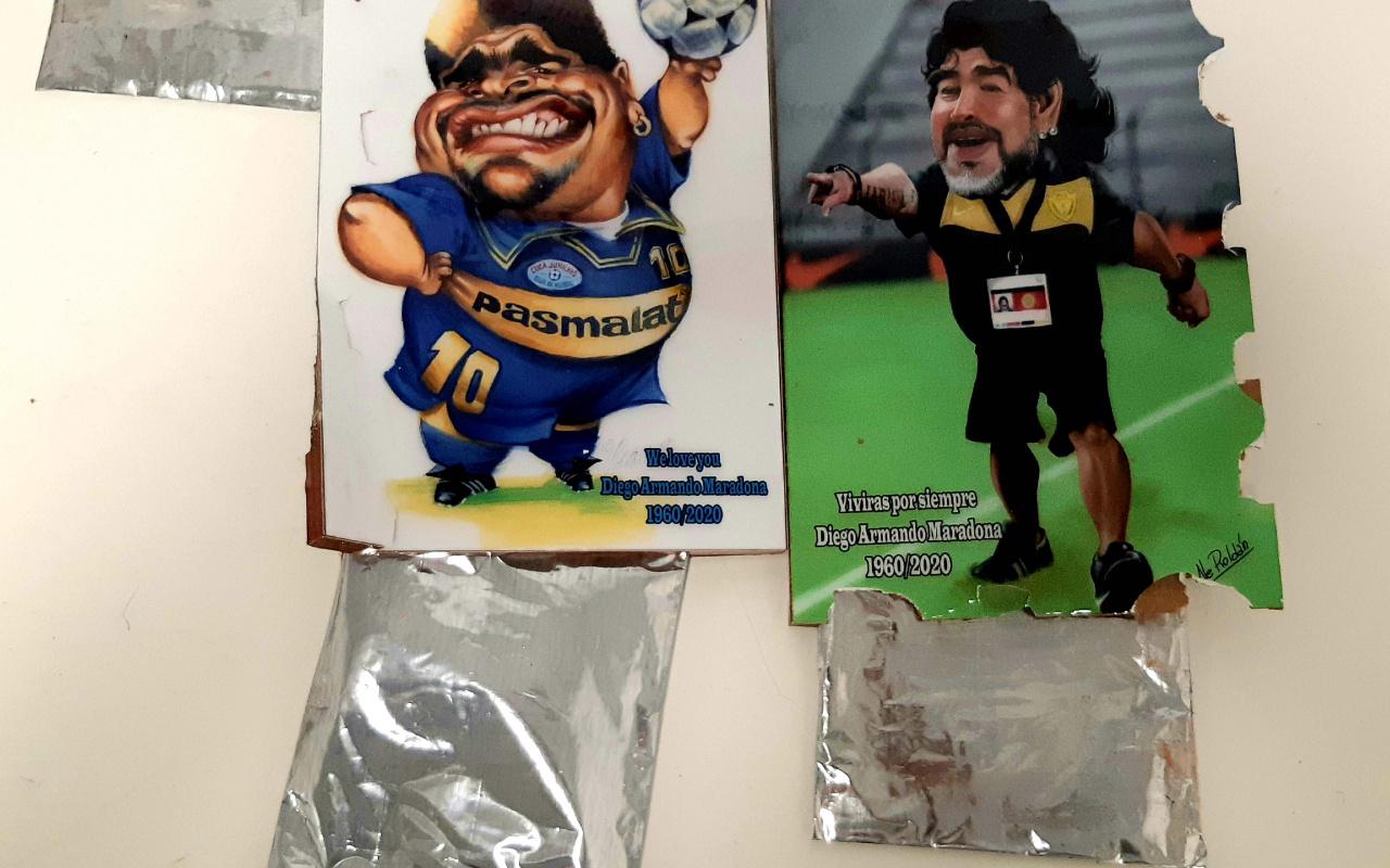 Maradona tablolarında 2 kilogram 650 gram kokain yakalandı