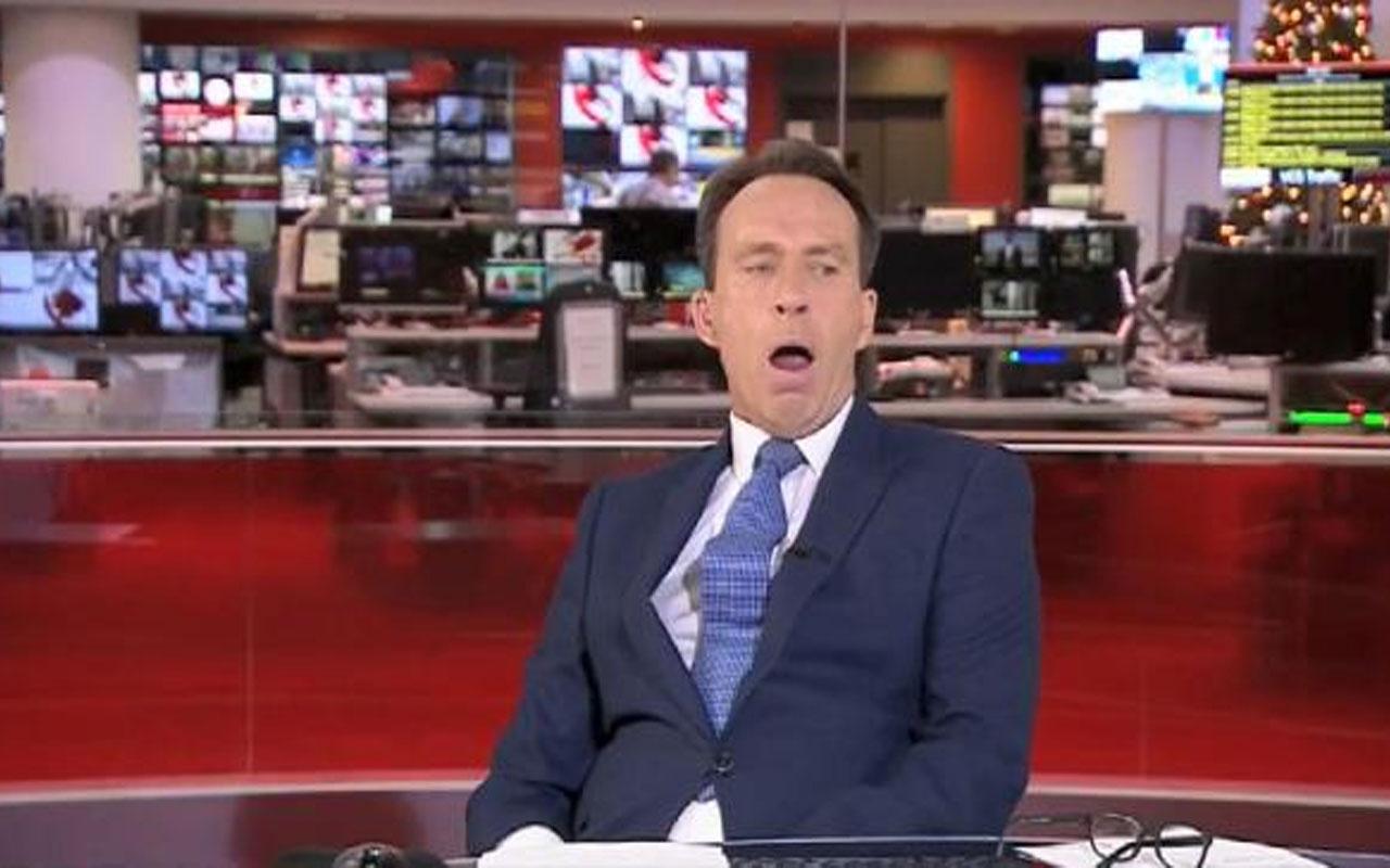İngiliz spiker canlı yayında esnerken yakalandı! İzleyicilerinden özür diledi