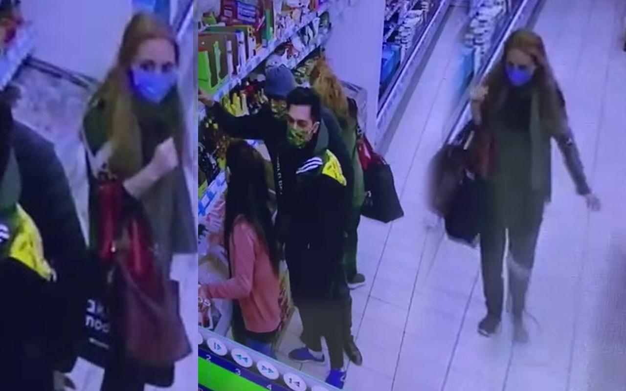 Önce ürünleri çaldı sonra telefonu! Tuzla'da markette kadın şahsın hırsızlığı kamerada