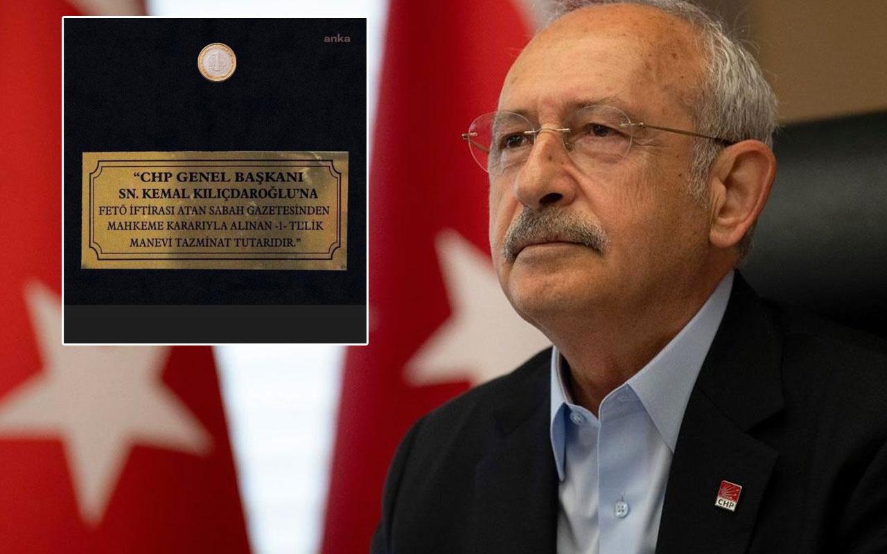 Kemal Kılıçdaroğlu Sabah gazetesine karşı kazandığı o 1 liraya bakın ne yaptı