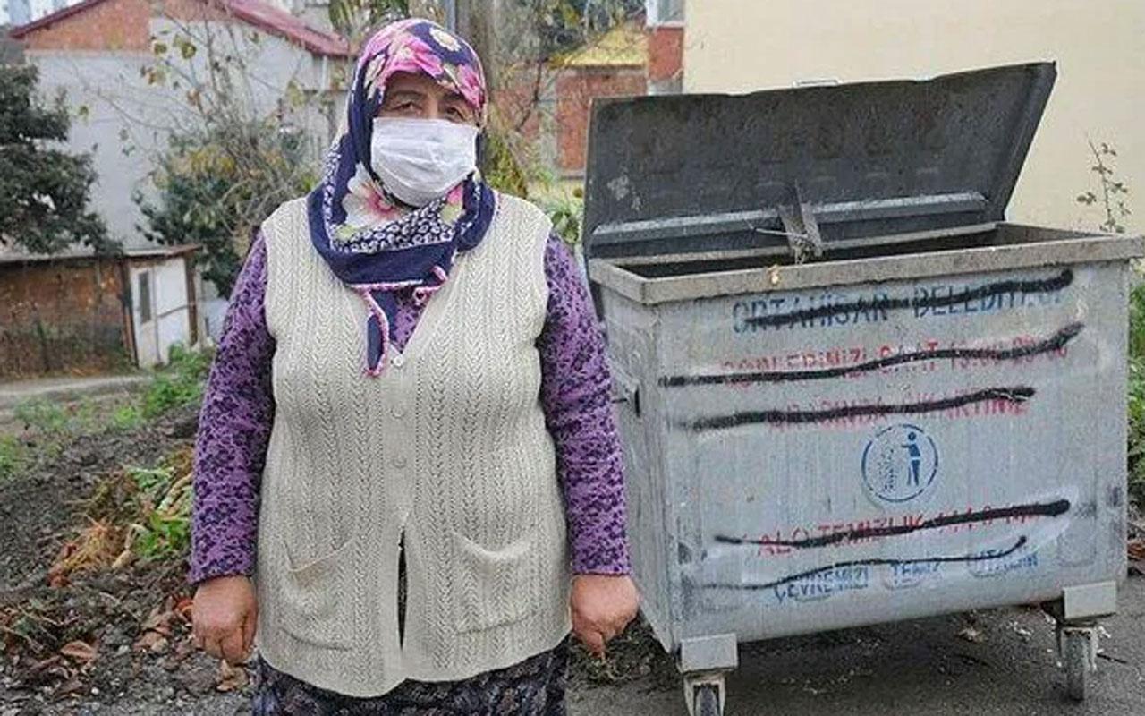 CHP'nin 'çöpten ekmek topluyor' dediği Trabzonlu kadından sert tepki