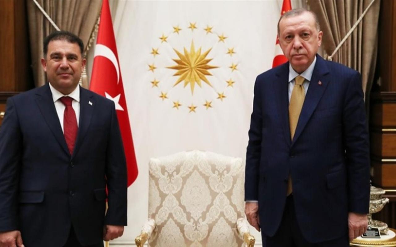Cumhurbaşkanı Erdoğan KKTC Başbakanı Ersan Saner'i kabul etti