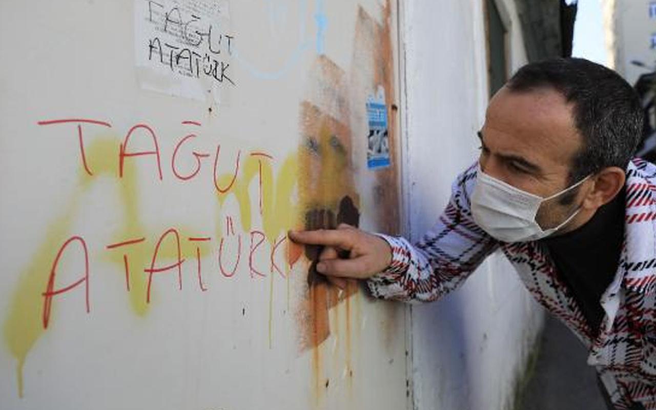 Antalya'da çirkin provokasyon! Duvarlara Atatürk'e hakaret içerikli yazı yazıldı