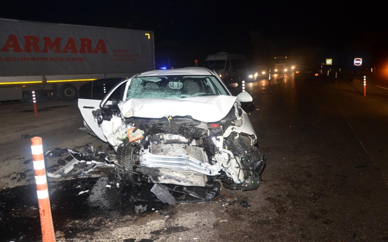 Tekirdağ'da feci kaza otomobil paramparça oldu: Nereden geldi, hiç anlayamadım