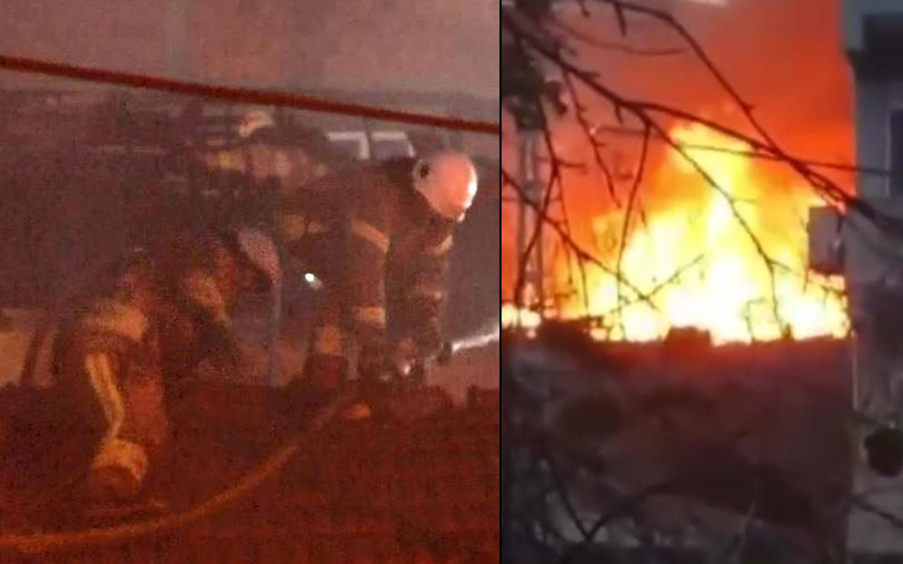 Sarıyer'de yangında itfaiye eri ölümden döndü! O anlar kameraya yansıdı
