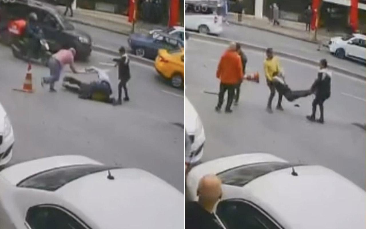 İstanbul'un göbeğinde meydan muharebesi! Duba, sopa, bıçak ne ararsan var