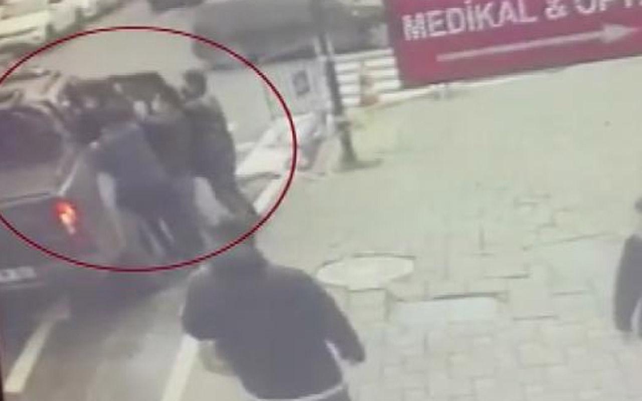 İstanbul Şişli'de eski ortaklarını kaçıran Çinliler kamerada