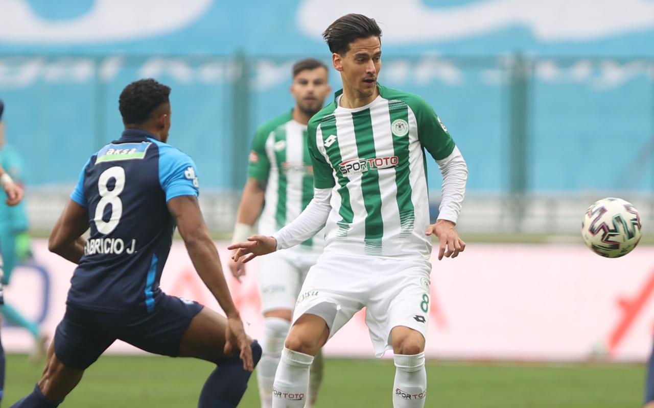 Konyaspor - Çaykur Rizespor maçında puanlar paylaşıldı