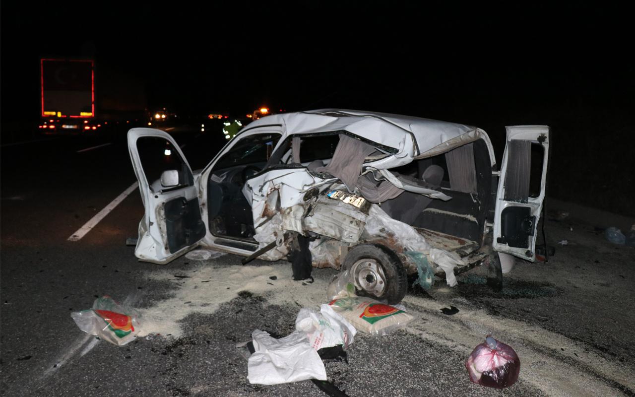 Bolu TEM Otoyolu'nda feci kaza! Olay yerinde hayatını kaybetti