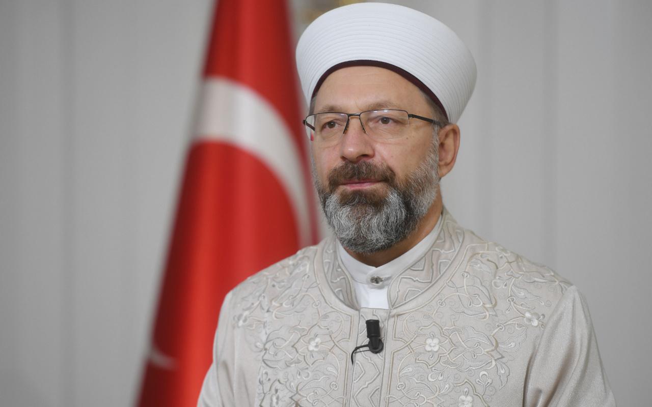 Ali Erbaş'tan din görevlilerine: Salgında faaliyetlerimize devam edelim