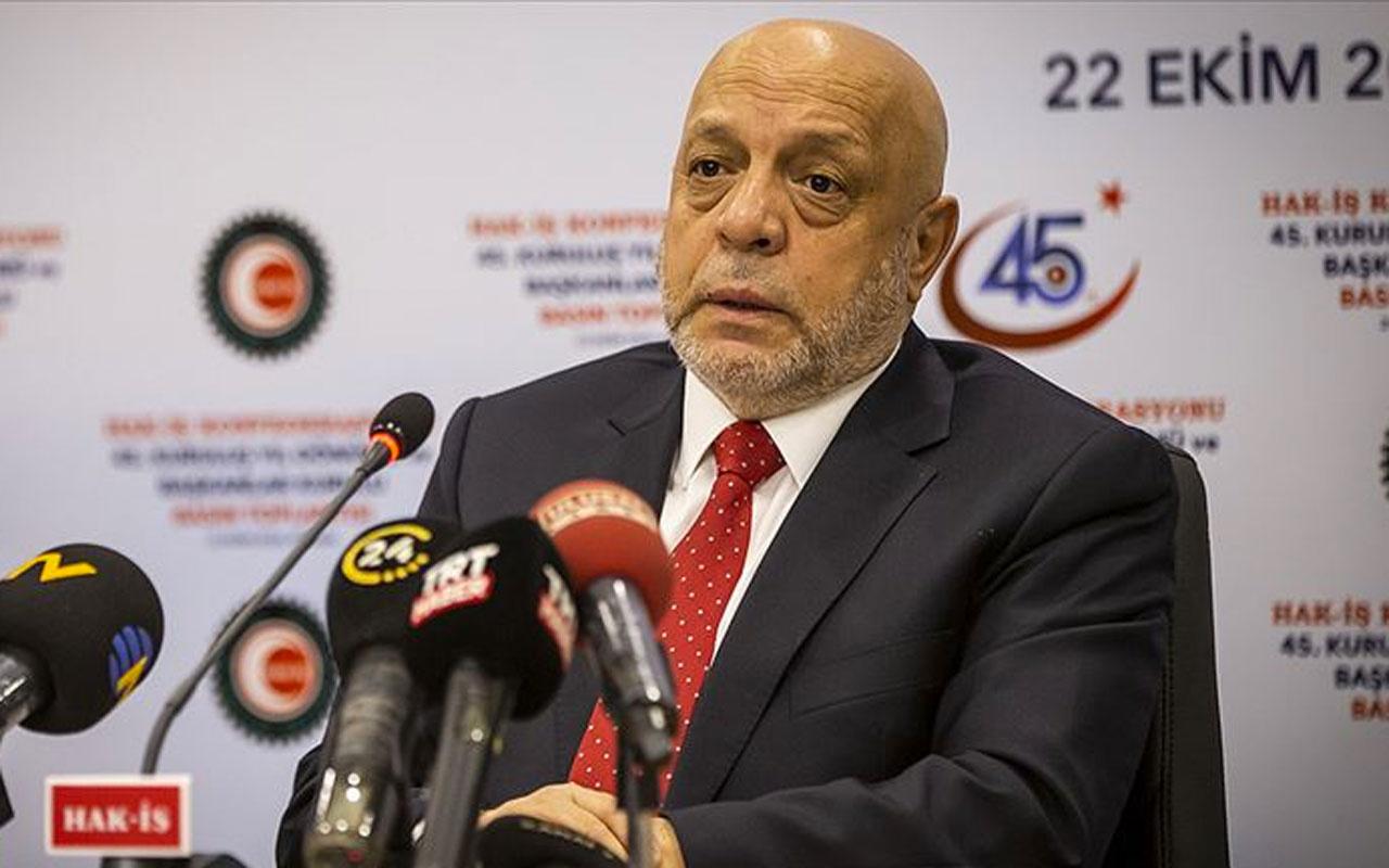 Hak-İş Başkanı Mahmut Arslan'dan yeni asgari ücret değerlendirmesi