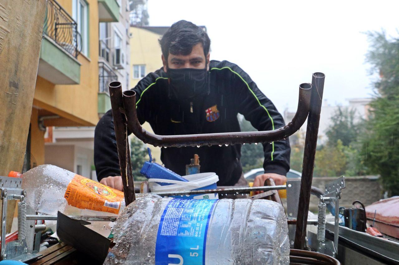 Türkiye bu genci konuşuyor Antalya'da 1,5 ayda hazırlandı! Çöpten plastik topluyordu