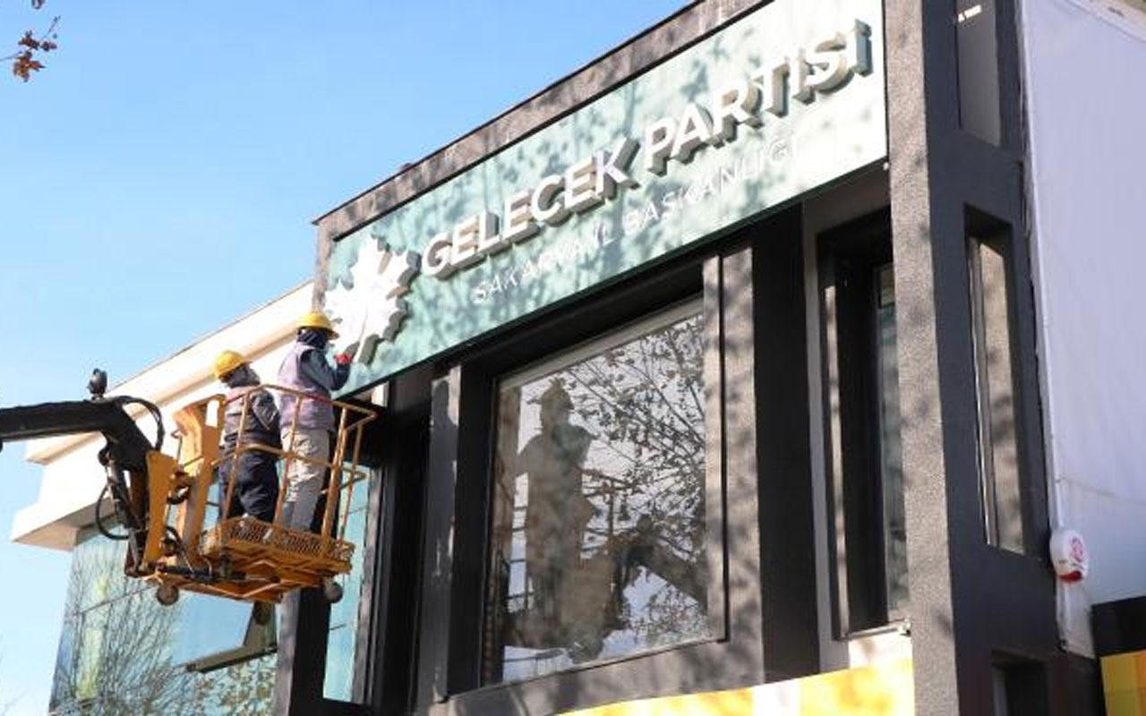Sakarya'da başkan ve yönetiminin istifa ettiği Gelecek Partisi binası boşaltıldı